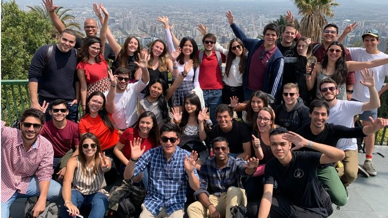 TFAS Santiago Students at the top of San Cristobal Hill